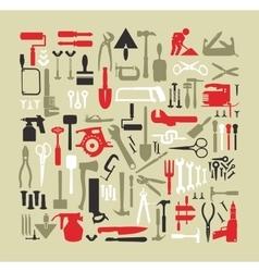 Set building tools vector image vector image