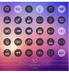 Set of cinema icons vector