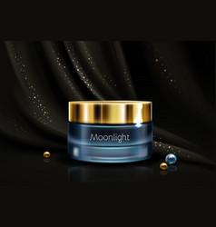 Skincare moisturizing cream 3d realistic vector