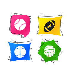 sport balls volleyball basketball baseball vector image