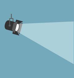 Spotlight shining flat movie vector