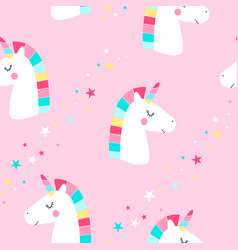 sweet unicorn seamless pattern vector image