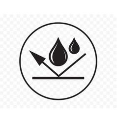 Waterproof icon or water proof symbol wet weather vector