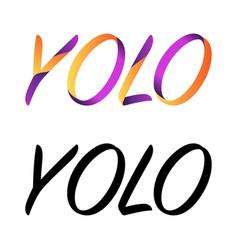 yolo symbol background vector image