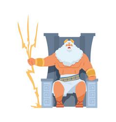 zeus greek god ancient character head of vector image
