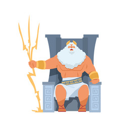 zeus greek god ancient character head vector image