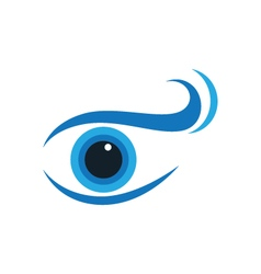 Eye care logo template vector