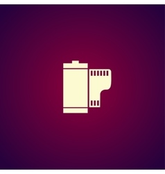 Flat Camera Film Roll vector image