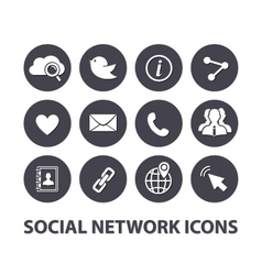 Flat Social network icons set vector image