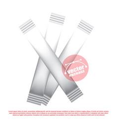 foil stick packaging for the dry beverage salt vector image
