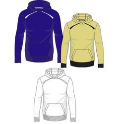 mens hoodie template vector image