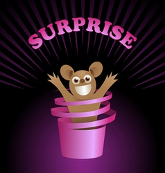surprise vector image vector image