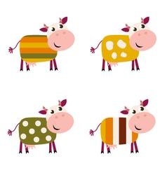 cute cows vector image vector image
