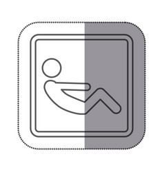 figure person doing sit-ups icon vector image vector image