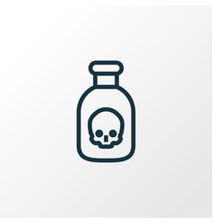 poison outline symbol premium quality isolated vector image vector image