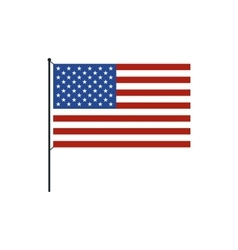 USA flag icon in flat style vector image vector image
