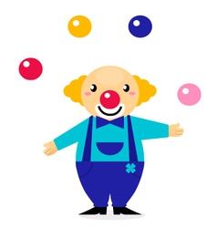 cartoon clown character vector image