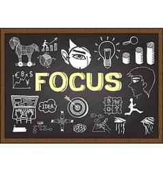 Focus on chalkboard vector image vector image