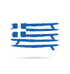 greek flag in blue and white color vector image
