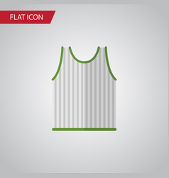 isolated sleeveless tank flat icon singlet vector image