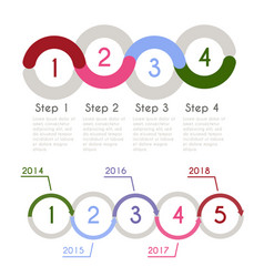 progress chart statistic concept infographic vector image