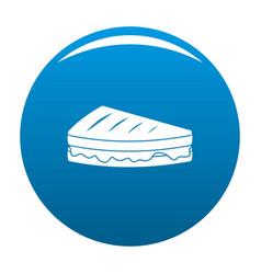 sandwich icon blue vector image