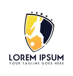 soccer football club logo design vector image