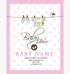 baby announcement card vector image vector image
