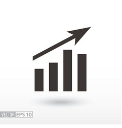 chart flat icon sign graph vector image