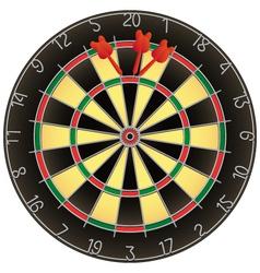 dartboard and darts vector image
