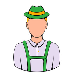 man in traditional bavarian costume icon cartoon vector image