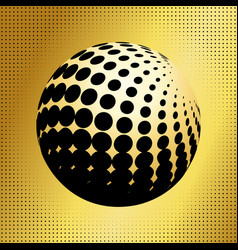 Set abstract halftone 3d spheres 34 vector