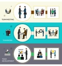 Teamwork banner set vector
