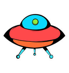 ufo icon icon cartoon vector image