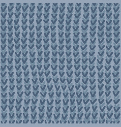 Abstract blue grey knitting seamless pattern vector