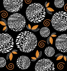 Abstract pattern with white circle and leaf backgr vector image