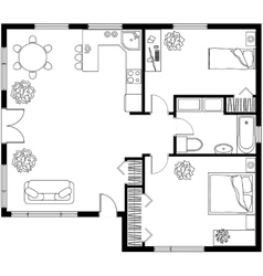 architectural plan a house vector image
