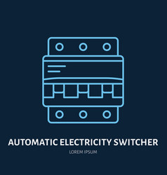 Automatic electricity switcher flat line icon vector