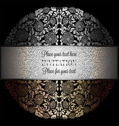 baroque background with antique luxury black vector image vector image