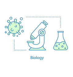 biology concept icon vector image