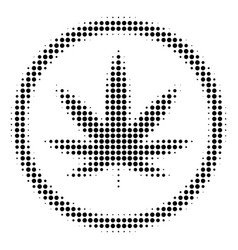 Black dot cannabis icon vector