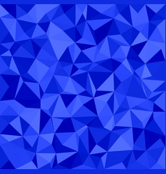 Blue triangle tiled mosaic pattern background vector