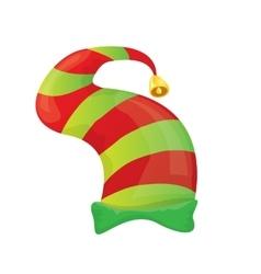 christmas elf hat vector image