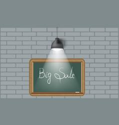 Creative background blackboard and spot light vector