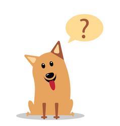 Cute little dog wondering cartoon character vector