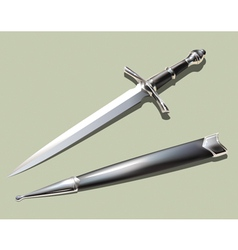 dagger and scabbard vector image