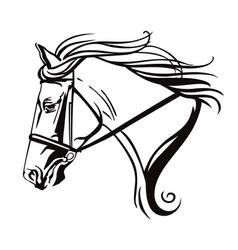 Decorative horse 10 vector