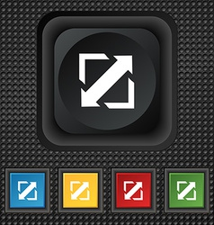 Deploying video screen size icon sign symbol vector