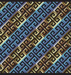 diagonal textured grunge 3d greek seamless vector image