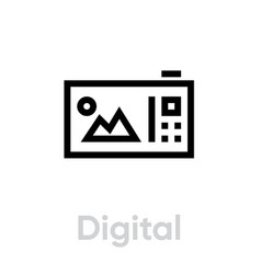 digital flat camera icon editable outline vector image